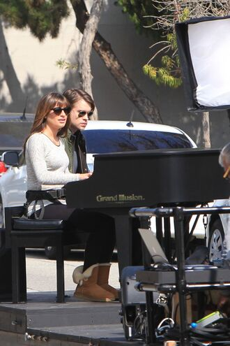sweater boots ugg boots lea michele glee