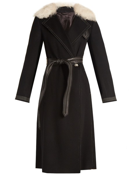 Helmut Lang coat wool black
