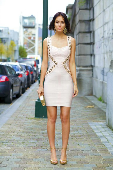 bodycon dress from brussels with love blogger bag jewels off-white earrings