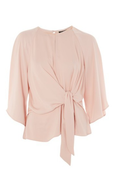 Topshop blouse blush top