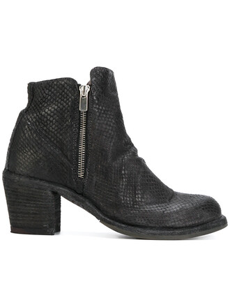 women boots leather grey shoes