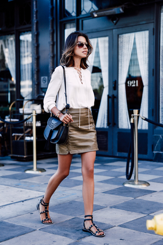 viva luxury blogger top skirt shoes jewels bag
