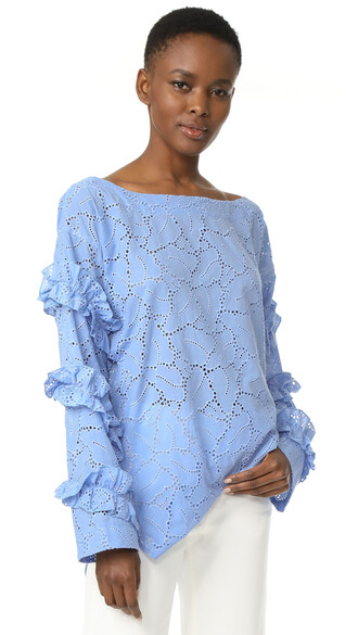 top eyelet top light blue light blue