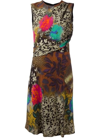 dress printed dress sleeveless women spandex