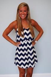 dress,navy,white,cheveron,blue,stripes,chevron,chevron dresses,black and white