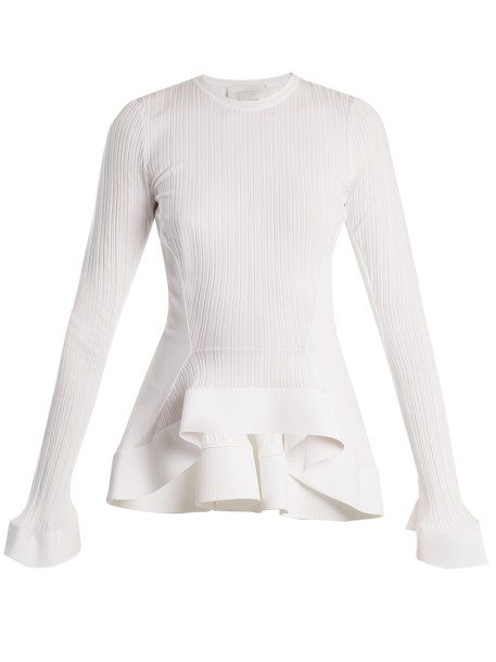 Esteban Cortazar sweater knit white