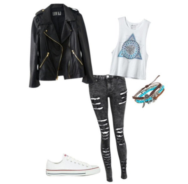blouse vintage cute triangle circle ripped black leather tank top hipster cool jeans dress coat