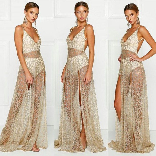 4c722e002aa dress alamour the label alamour cristal rozay gown prom birthdayw wedding  event sparkle