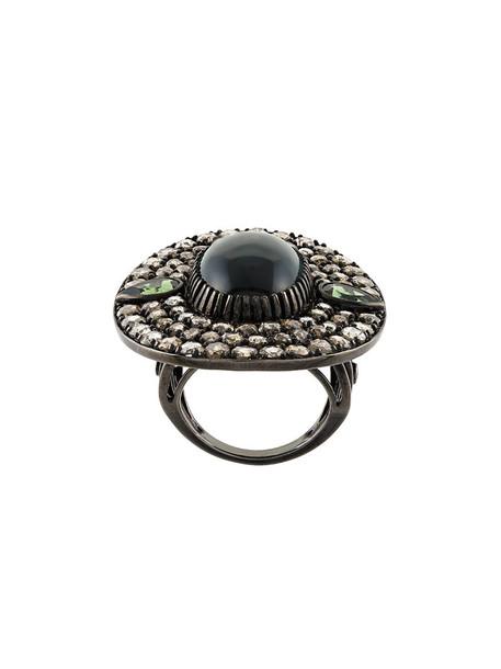 Monan diamond ring women ring gold black jewels