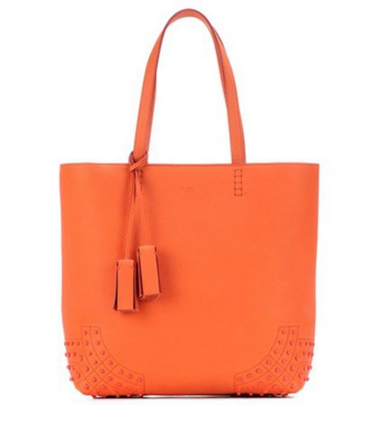 leather orange bag
