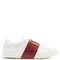 Colour-block low-top leather trainers