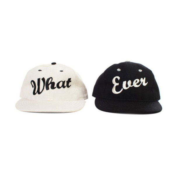 Hat whatever what snapback couple