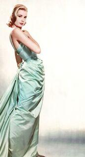 dress,grace kelly,blue dress,maxi dress,prom dress,elegant dress,blonde hair,actress