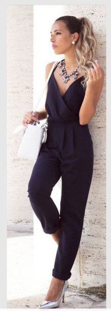 Images of Formal Black Jumpsuit - Reikian
