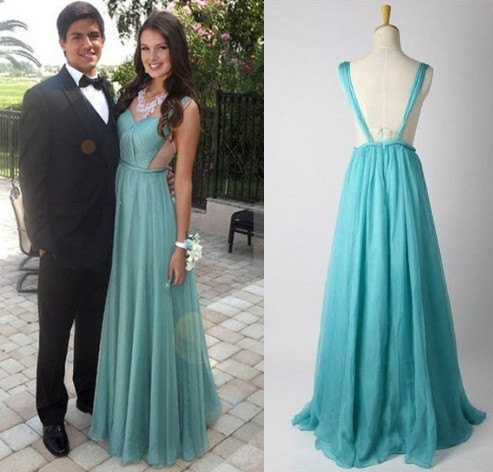 Elegant long blush prom dress hot selling prom dress by onlyudress