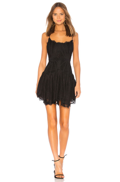 X by NBD Riley Mini Dress in black