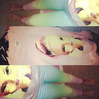 pants leggings printed leggings colorful cute outfits
