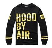 sweater,hoodie,hood by air,swag,black,gold