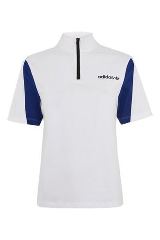 shirt polo shirt adidas originals white top