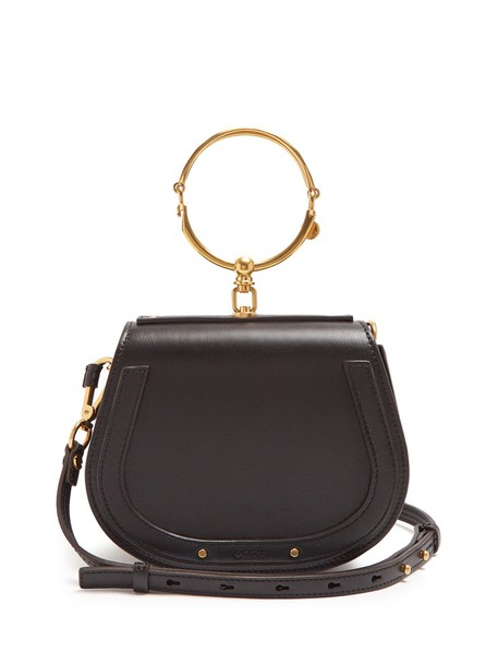 Chloe cross bag leather suede black