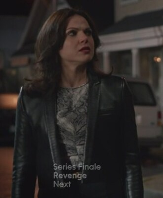 jacket leather black python fashion toast evil queen regina mills lana parrilla top