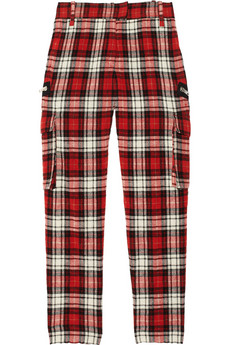 Jade checked wool-blend cargo pants | Joseph | THE OUTNET