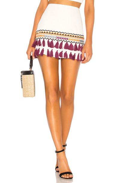 Tularosa Millie Skirt in white