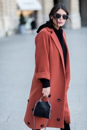 five five fabulous,blogger,jewels,sunglasses,burgundy,red coat,black top,black bag