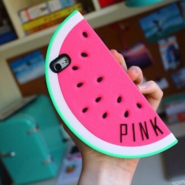 phone cover victoria's secret watermelon phonecase pink by victorias secret