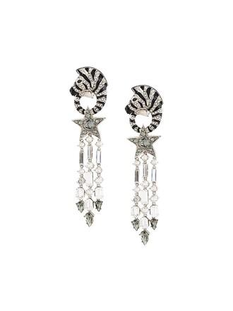 zebra earrings metallic jewels
