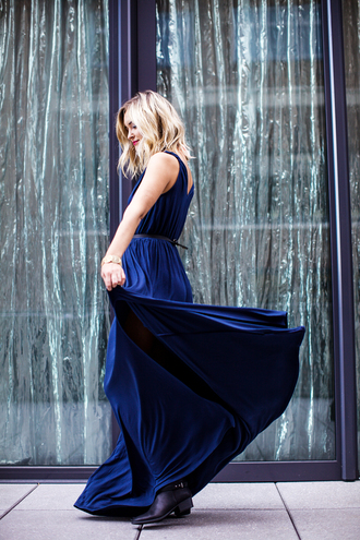 late afternoon blogger navy dress maxi dress