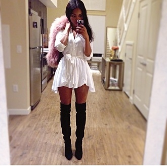 shoes boots thigh highs suede knee high dress