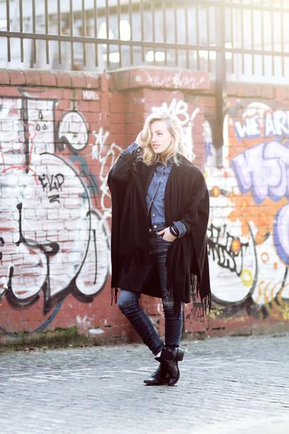 framboise fashion blogger jacket jeans shoes sunglasses