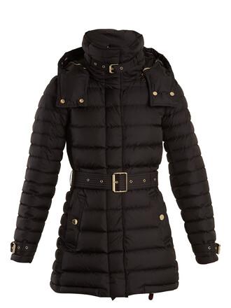 coat quilted black