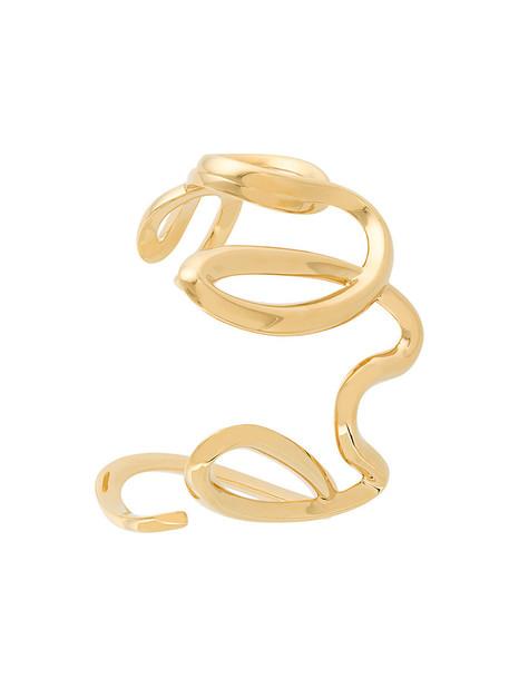 cuff metal women cuff bracelet grey metallic jewels