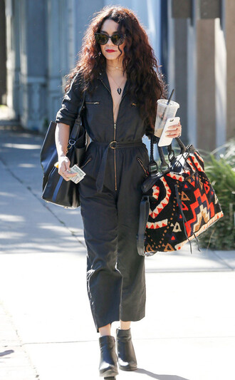 jumpsuit vanessa hudgens ankle boots pants top spring outfits