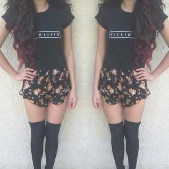 shorts skirt shirt