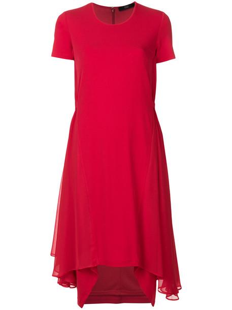 Steffen Schraut dress jersey dress women spandex red