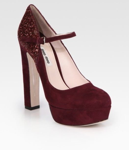 shoes burgundy heels pumps suede mary janes