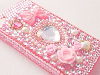 phone cover pink pastel pastel pink pastel phone case phone case decoration decora decoden roses heart hearts studs pearl pearls cute kawaii kawaii fashion asian fashion japanese fashion japanese inspiration japanese inspired phone cover. iphone case iphone cases iphone 5 case iphone 4 case girly princess hime lolita lolita fashion bows sparkly sparkle