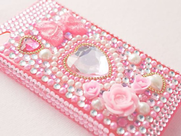 phone cover pink pastel pastel pink pastel phone case phone cover decoration decora decoden roses heart heart studs pearl pearl cute kawaii kawaii asian fashion japanese fashion japanese japanese phone cover iphone case iphone case iphone 5 case iphone 4 case girly princess hime lolita lolita bows sparkle sparkle