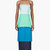 roksanda ilincic blue colorblocked tiered bustier gown