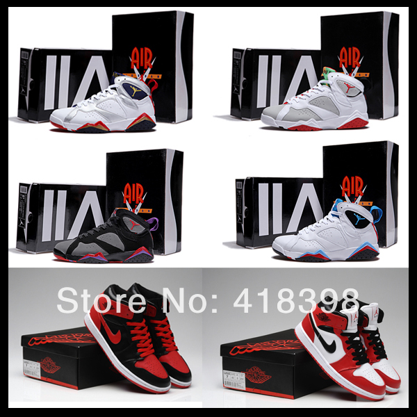 Free shipping cheap mens retro jordanlis 1 7 basketball shoes j7 j1 for men sale-in Men's Shoes from Shoes on Aliexpress.com