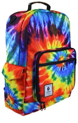 bag bookbag backpack tie dye multicolor