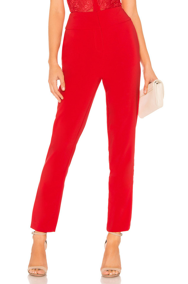 Chrissy Teigen x REVOLVE Kaidon Pants in red