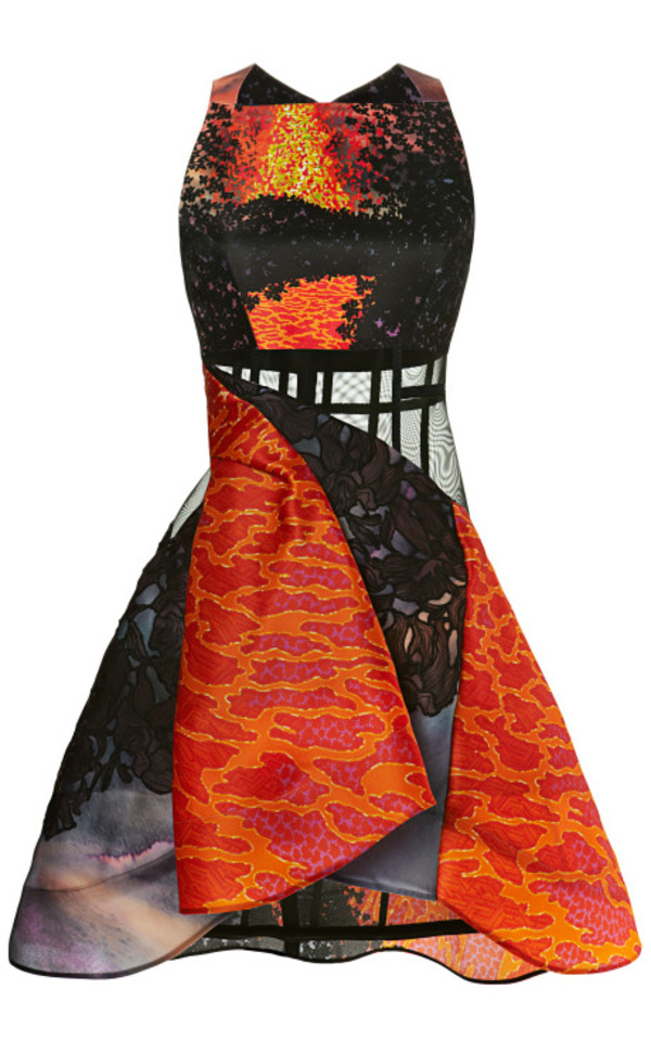 dress peter pilotto volcano dress