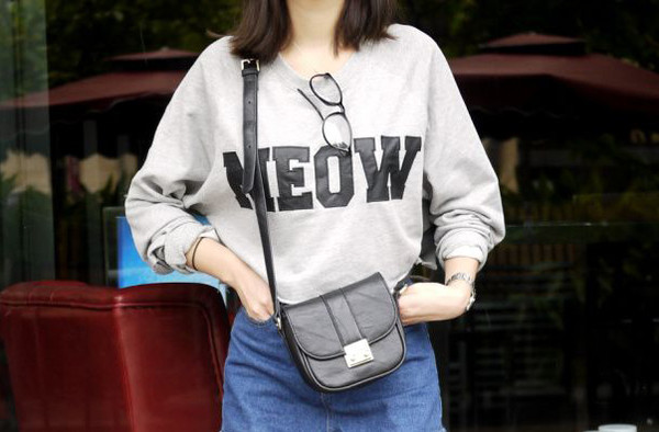 black text white sweater crewneck grey grey sweater sweatshirt black and white grunge meow cats