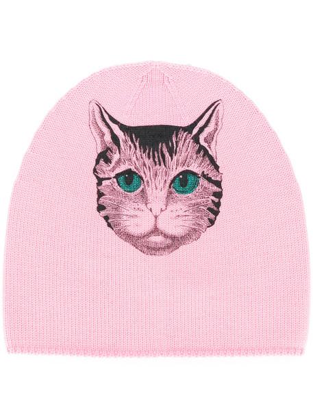women beanie wool purple pink hat