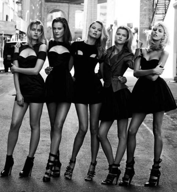 dress black women fashion street sandals high heel shoes