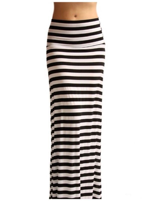 skirt black stripes maxi skirt spring outfits